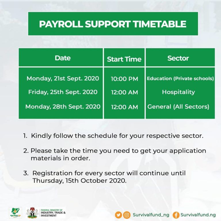 MSME Payroll Support Program in nigeria