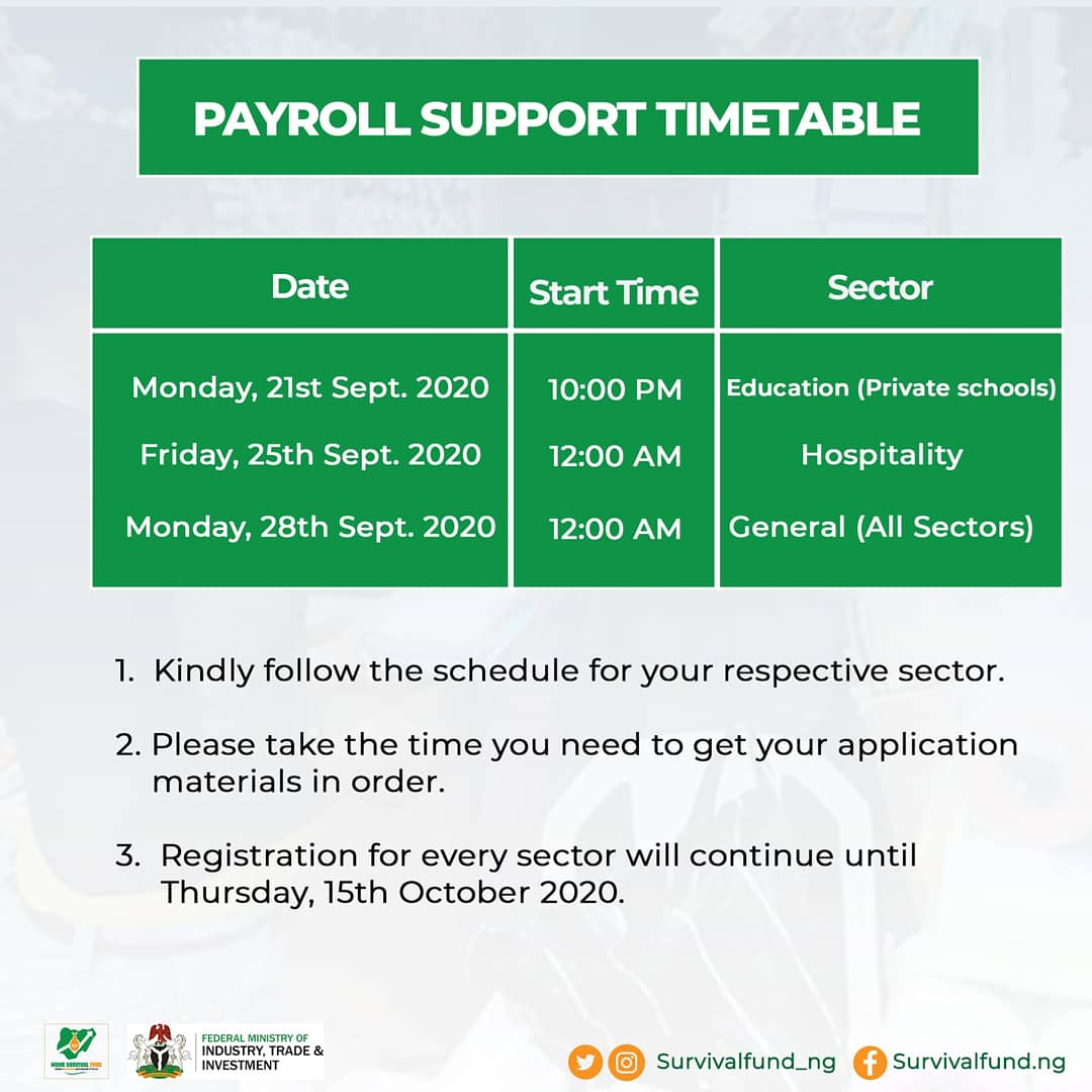 survivalfund payroll support timetable